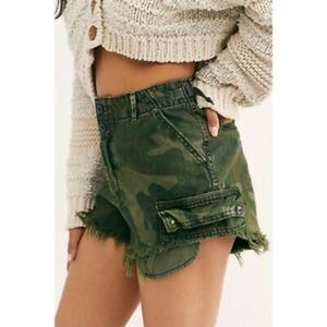 FREE PEOPLE Cutoff Camo Shorts